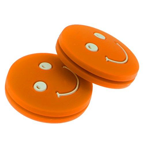 Homyl 2 x Schwingungsdämpfer Stoßdämpfer Dämpfer für Tennisschläger - Orange