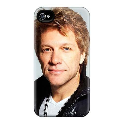 Schutzhülle für Apple iPhone 4 / 4S, stoßdämpfend, mit Bon Jovi Band Serie