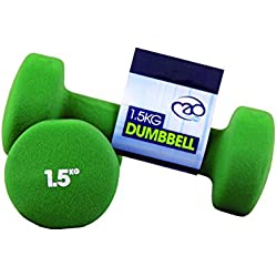 Fitness Mad Neo - Set de 2 Mancuernas / pesas de 1.5kg/u, color verde