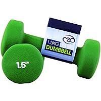 Fitness Mad Neo - Set de 2 Mancuernas / pesas de 1.5kg/u, color verde