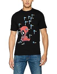 Disney Deadpool Cartoon Knockout, Camiseta para Hombre