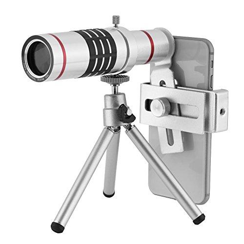 Monokular Teleskop, 18X Hohe Leistung HD Monokular mit Telefonadapter Mount und Stativ für Camping,...