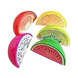 Hosaire 5Pcs Taille-crayons Creatif 1 trous de Mignonne Motif de Mini Fruit de Couleur Kawaii Fournitures scolaires Papeterie Couleur aléatoire