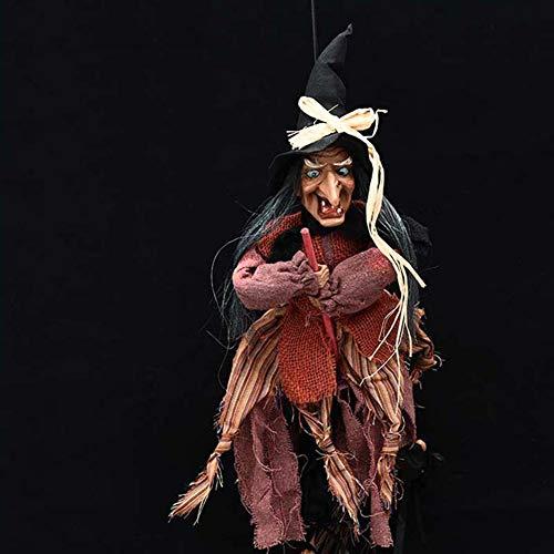 Halloween Dekoration Screaming Witch, Hanging Sensenmann für Halloween Party Indoor Outdoor Scary (Halloween Sensenmann Dekoration)