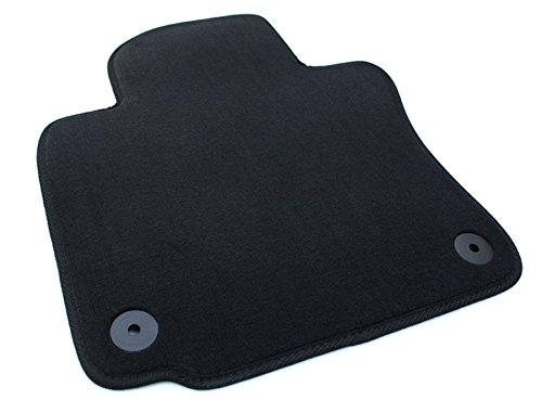kfzpremiumteile24 Fußmatte Fahrerseite / Velours Automatte Original Qualität Stoffmatten schwarz