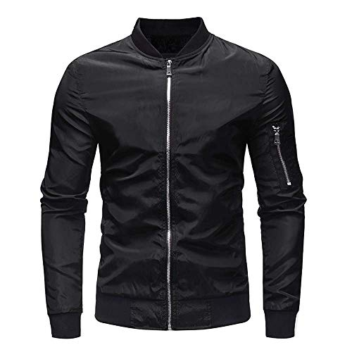 Luckycat Herren Herbst Winter Casual Solid Zipper Jacke Mantel Top Bluse Outwear Mode ()