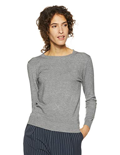Qube By Fort Collins Women's Sweater (CH101_Grey_M)