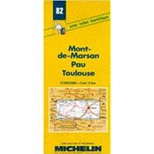 Carte routière : Mont-de-Marsan - Pau - Toulouse, 82, 1/200000 (Anglais) de Carte Michelin ( 7 mai 1980 )