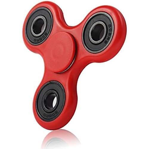 fidget spinner el nuevo juguete de moda Fidget Hand Spinner, reductor de estrés alivia la ansiedad y el aburrimiento (rojo)