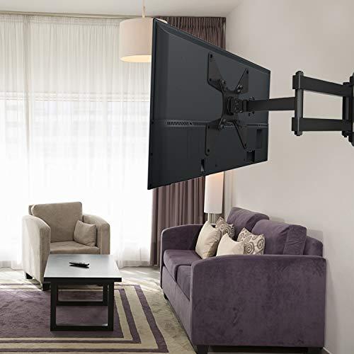 """41FXytC5UsL - Soporte Universal de Pared para TV Giratorio, inclinable y rotatorio - Se Adapta a los televisores de Pantalla Plana LCD/LED de 10-40""""- Extiende 43.59cm - Soporta hasta 20kg - MAX VESA 200X200mm"""