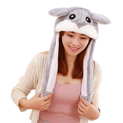 Woneart Plüsch Bunny Ohren Stirnband Kaninchen Ohren Hut-Kappe mit Beweglichen Ohren Tier Ostern Verkleidung Tiermütze Kostüm Plüschtiere (Hamster)