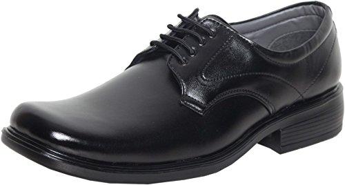 Azzaro Black Men's Black Synthetic Derby Shoes - 14 UK