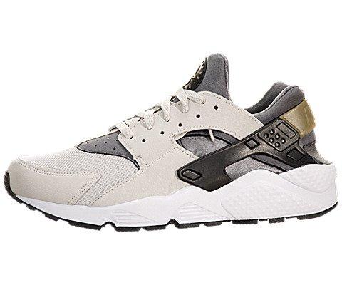 Nike Air Huarache, Herren Sportschuhe, Negro/Gris (Light Ash Grey/Black-Cool Grey), 43 EU