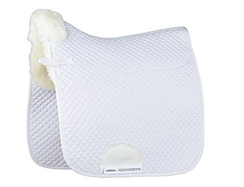 Weatherbeeta Merino High Wither Dressage Saddle Pad: White: 17.5