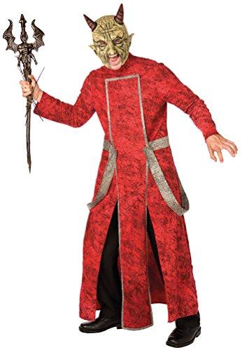 Karneval-Klamotten Teufel Kostüm Herren Halloween Teufelskostüm Lucifer Satan Herrenkostüm Einheitsgröße One - Satan Teufel Kostüm