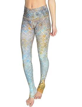 Mujer Deporte Pantalones Aptitud Yoga Leggings Barriguita Controlar Pantalones Gym Running Leggings empujar Arriba...