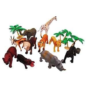 Jungle Animal Figures Tub 20 Pieces Amazon Co Uk Toys