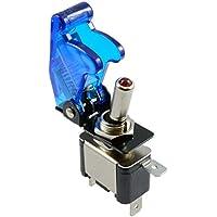 LED blu illuminato Toggle Switch con Missile stile Flick, per cruscotto auto 12V - Rw Leva