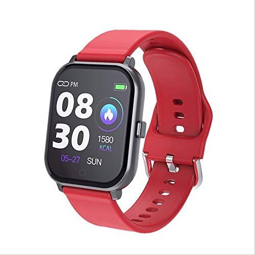 GGOII Intelligente Uhr Frauen smart Watch Android ios Uhren Sport wasserdicht Fitness Armband Laufen Armband männer smartwatch für iPhone pk p70 b57rot