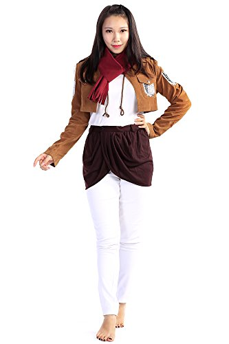 De-Cos Attack on Titan Cosplay Costume Scouting Legion Mikasa Ackerman Outfit (Cosplay Kostüm Aot)