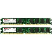 Komputerbay 4GB (2X 2GB) DDR2 667MHz PC2-5300 PC2-5400 (240 PIN) DIMM Memoria Desktop con semiconduttori Samsung