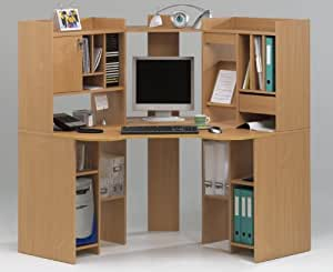 pc ecktisch eckschreibtisch buche computertisch. Black Bedroom Furniture Sets. Home Design Ideas