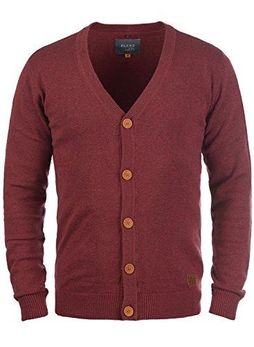 BLEND 703656ME Cardigan, Größe:L;Farbe:Andorra Red (73811) (Herren-pullover Weste Rot)