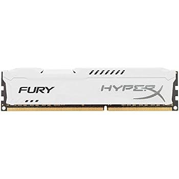 HyperX HX318C10FW/4 FURY Series 4 GB DDR3 1866 MHz CL10 DIMM Memory Module, White