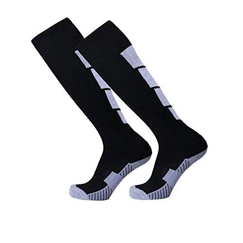 Feuchtigkeitstransport Team Athletic Baseball Socken Wingbind über die Kalb Leistung Socken Fußball Hockey Softball Tubes Sport Strumpf für Männer und - Männer-schwarz Das Für über Kalb-socken