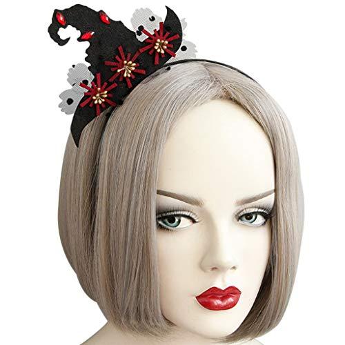 Manyo Frauen Mädchen Hexe Hut Stirnband Halloween Party Boutique Spitze Haar Hoop Kostüm