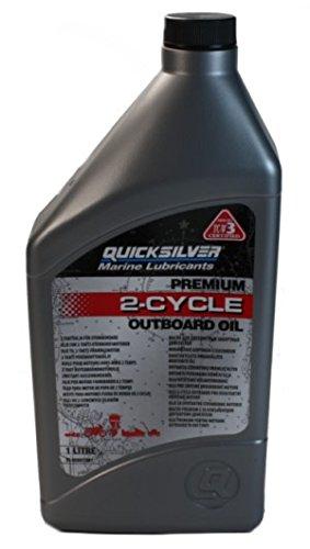 1 Liter Quicksilver Premium Motoröl für 2-Takt Motoren -