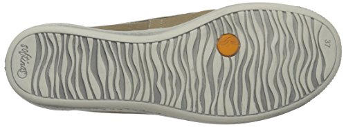 Softinos Damen Ilma Smooth Geschlossene Ballerinas Beige (Taupe)
