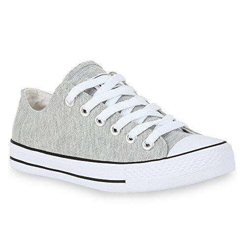 Stiefelparadies Unisex Damen Herren Sneakers Sportschuhe Schnürer Schuhe 24762 Hellgrau Ambler 39 ()
