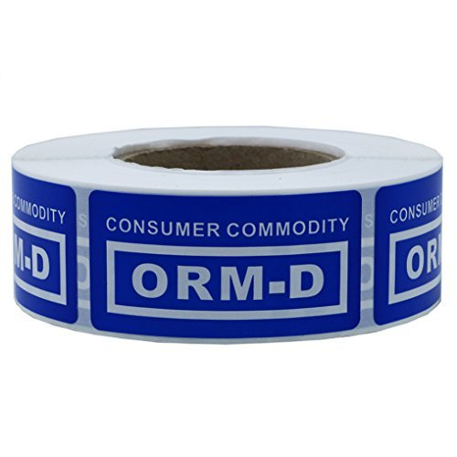 """hybsk 2,5x 5,1cm blau\""""Verbraucher Ware orm-d\"""" Label Gesamt 500Etiketten pro Rolle"""
