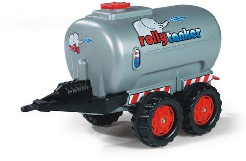*Rolly Toys 122752 rollyTanker JohnDeer | Anhänger Tanker befüllbar | Tankwagen 2 Achsen | mit Auslaufhahn | max. Befüllung 30 l  ab  3 Jahren | Farbe silber  | TÜV/GS geprüft*