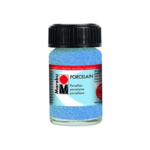Marabu Jar, Porzellan Farbe, Glitzer blau, 2,8x 2,8x 4,2cm