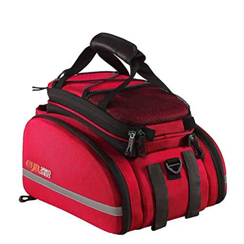 KUANDAR Wasserdicht Fahrradtaschen Gepäckträger, Wasserdicht, Multifunktionale, Schultertaschen Reflektierender, Mit Integriertem Schultergurt, Tasche Rennrad Rack Carrier Handytasche, B