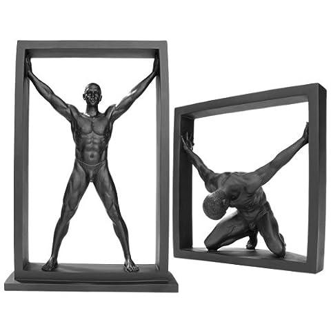 Design Toscano Moderner männlicher Akt in Rahmen: 2er-Set