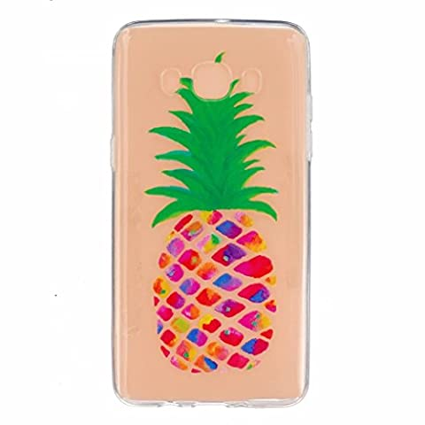 MOTOUREN Samsung Galaxy J5(2016 Version) Coque , Transparent Crystal TPU Ultra Mince Ultra Léger Silicone Doux TPU Case Cover Housse Etui pour Samsung Galaxy J5(2016 Version)- ananas