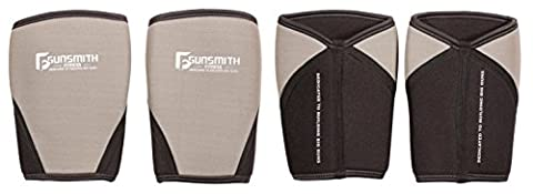Gunsmith Fitness Premium Knee Sleeves (1 Pair) - Weightlifting, Powerlifting & CrossFit - 7mm Neoprene Sleeve for Compression/Support (S)