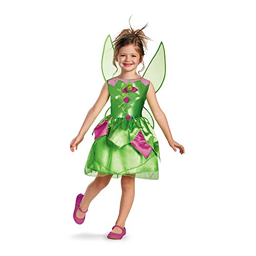 Disney Tinkerbell Fairies Kostüm - Disney Fairies Tinkerbell Fee Clochette Girl Mädchen Kinder Fasching Karneval Kostüm Costume 122-128