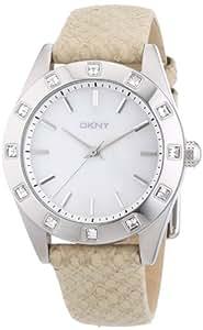 DKNY Damen-Armbanduhr Analog Quarz Leder NY8789