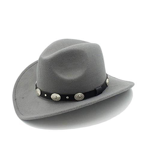 CFHJN-hat Home Hüte Good T Vintage Herren Einfache Western Herren Glamorous Cowboy T-Shirt mit breiter Krempe Punk Cowgirl Jazz Cap mit Cap 23 Caps (Color : 2, Size : 57-58cm) Cowgirl Cadet Cap