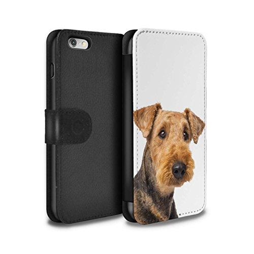 Stuff4 Coque/Etui/Housse Cuir PU Case/Cover pour Apple iPhone 5C / Husky/Esquimau Design / Chiens Collection Airedale Terrier