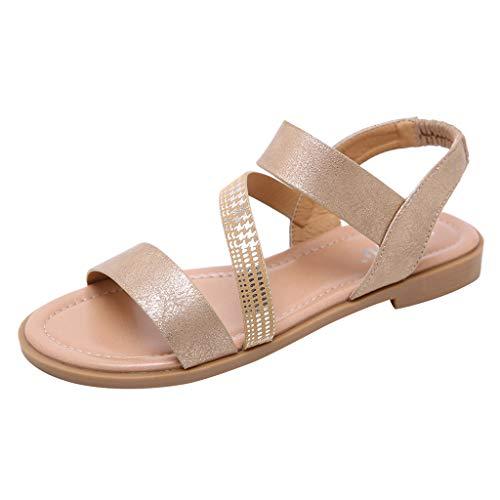 Sandalias Bohemias,ZARLLE Sandalias Mujer Verano Cruzado Romano Estilo Chancleta Casual Cómodo Vacaciones Playa Zapatillas Chanclas Moda Zapatos de Planos