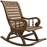 DZYN Furnitures Aura Rocking.CHR.Matte.Teak.03 Rocking Chair (Walnut)