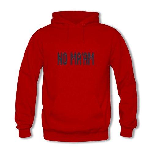 HKdiy NO MA'AM Custom Men's Printed Hoodie Red-2