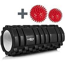 Maximo Foam Roller + Palline da massaggio - Rullo in Schiuma per l'Auto Massaggio con Rilascio Miofasciale - 14 cm x 33 cm