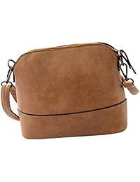 Feitong 2016moda mujeres Scrub Bolsa de hombro bolso bandolera bolsa, mujer, marrón