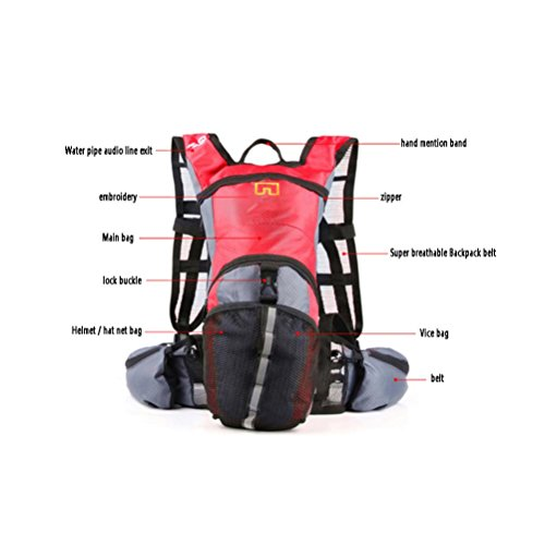 QPYC Paquet d'escalade Sac à dos Sac à dos Outdoor Ride Package Hommes et femmes Travel Package Movement Backpack Water Bag Package